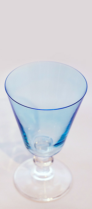 Aqua water glass