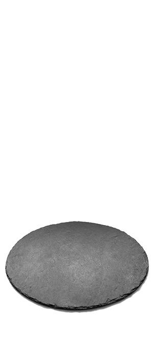 Slate round plate