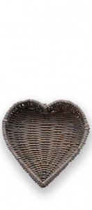 Heart shaped bread basket