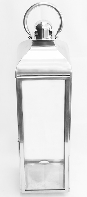 Medium large chrome lantern