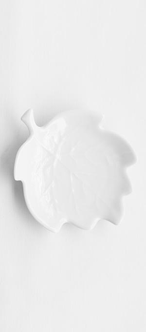 Leaf butter dish