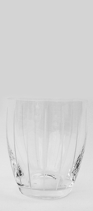 Lined Etched water glass