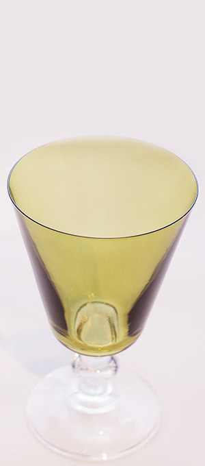 Moss green water glass