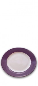 Purple charger plate