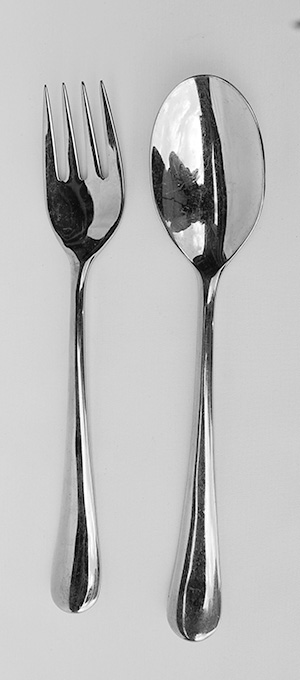 Salad spoon and fork