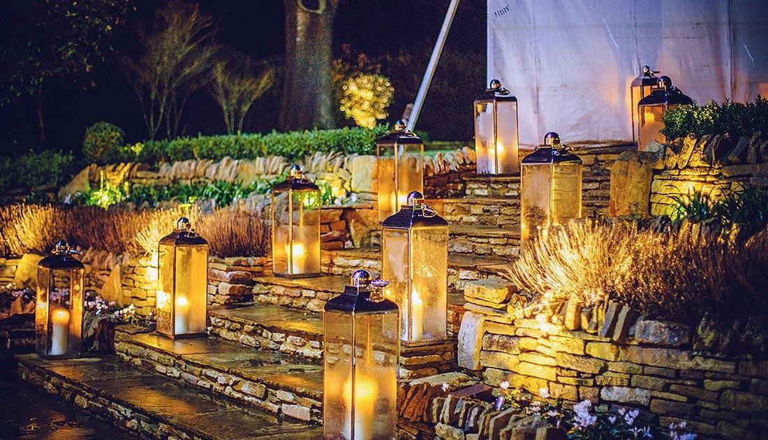Lanterns outside
