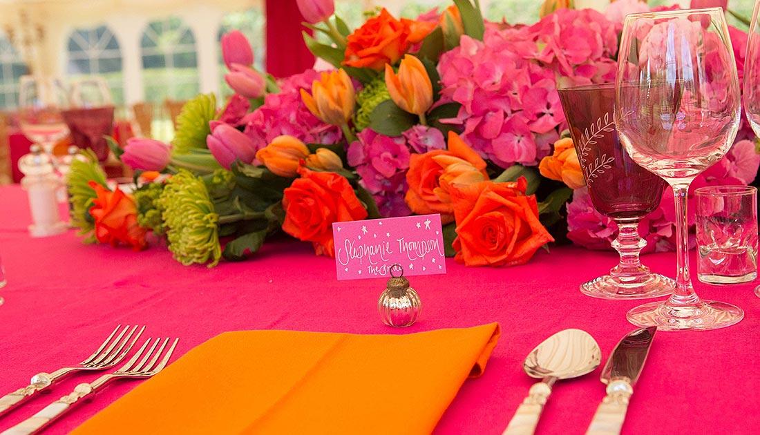 Orange Pink Wedding