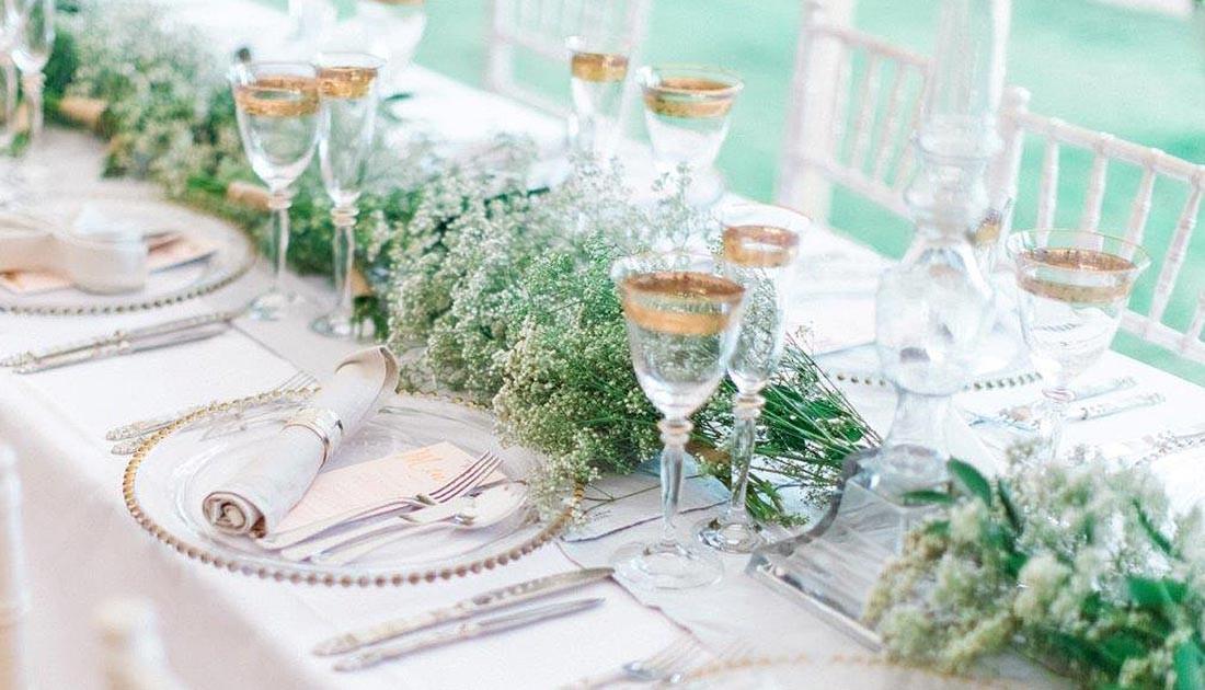 Gold glass wedding