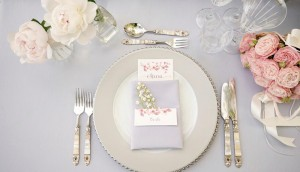 Grey place setting