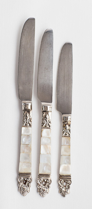 Three course knives