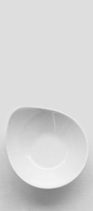 Tear drop bowl
