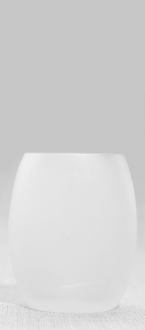 Frosted white tumbler
