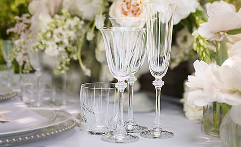 Lined Etched Glassware range